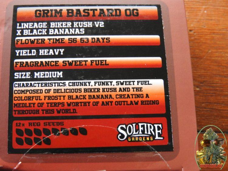 Grim Bastard OG from Solfire Gardens Details